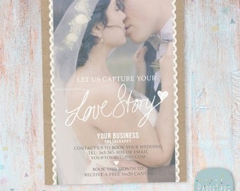 Wedding Photography Marketing Board - Photoshop template - IK001 - INSTANT DOWNLOAD