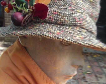 Vintage Irish Wool Bucket Hat