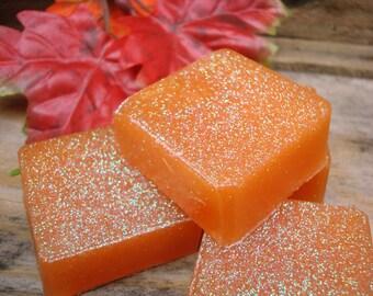 Pumpkin Spice Scented Glycerin Soap - Mini Soap Bars - Autumn Soap ...