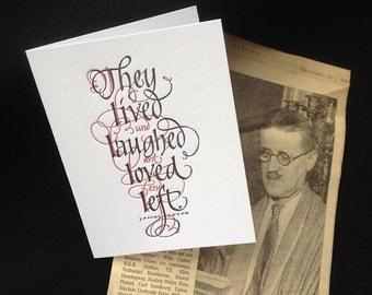 James Joyce Quotation Letterpressed Greeting Card