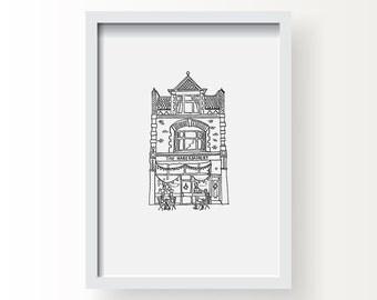 The Haberdashery Coffee shop. A4 digital print, unframed.