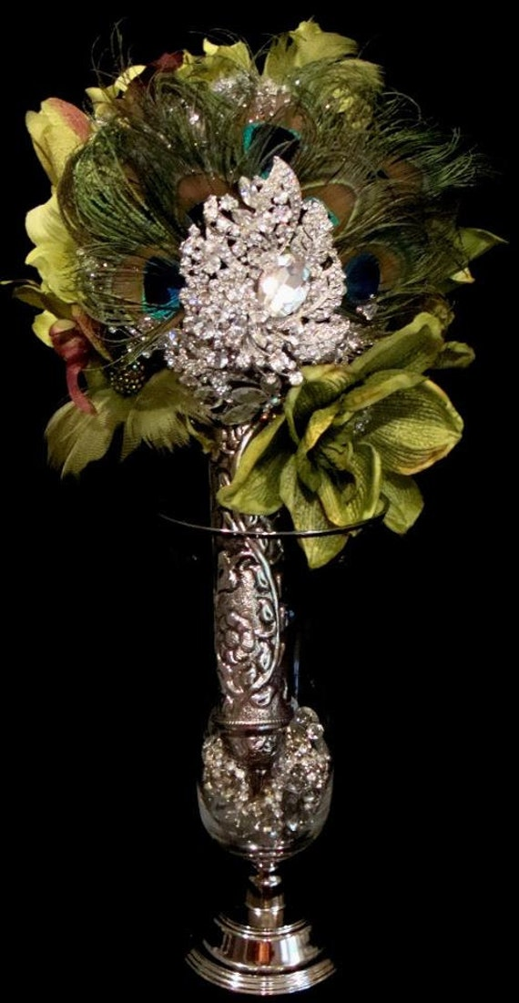 wedding bouquets holders unique large silver plated tussie mussie wedding rhinestone 8515
