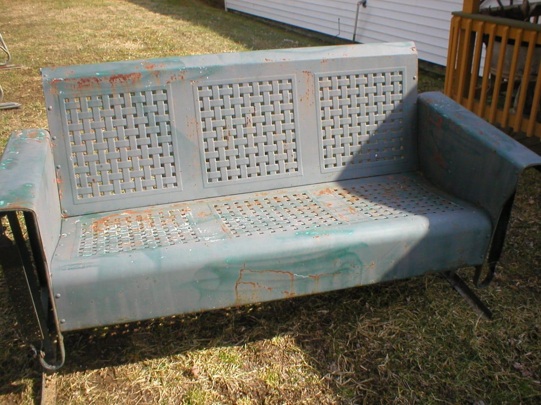 Old Metal Porch Glider Good Shape