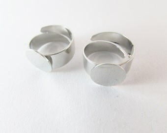 D-00220 - 2 Pad ring base platinium color 12mm base