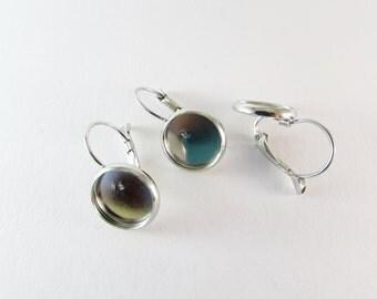 D-00272 - 6 Lever back hoop earrings components nickel free