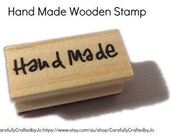 Hand Made Stamp -  Wooden Rubber Hand Made Stamp