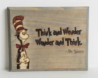Dr. Seuss - wall sign