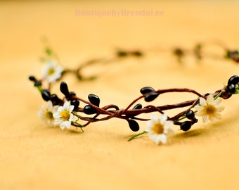 Black & White Floral Headband