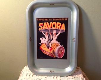 Vintage Metal Savora Tray