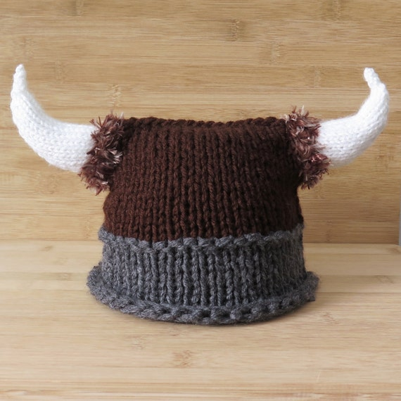 Knitting Patterns For Viking Hat : Viking Hat Knitted Viking Hat Knit Viking Hat with horns