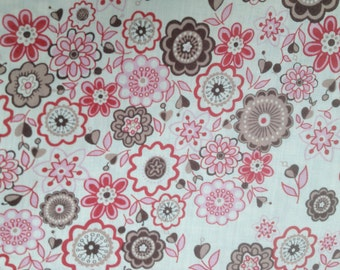 Liberty Tana Lawn,  LAUREN in PINKS & BROWNS 1m x 136 cms (39 ins x 54 ins)