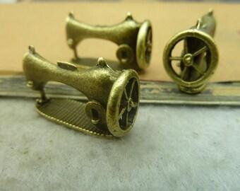 10pcs 12x16x26mm Antique Bronze Sewing Machine Charms Pendants Jewelry Accessories AC3450