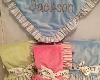 Personalized Baby Blanket for boys or girls, Monogram blanket, baby boy gift, baby girl gift, Monogrammed Baby gift