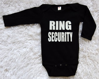Ring Security One Piece . Ring Bear Creeper . Ring Bearer One Piece Ring Security Shirt Ring Bear Shirt Ring Security Creeper Bowtie Creeper