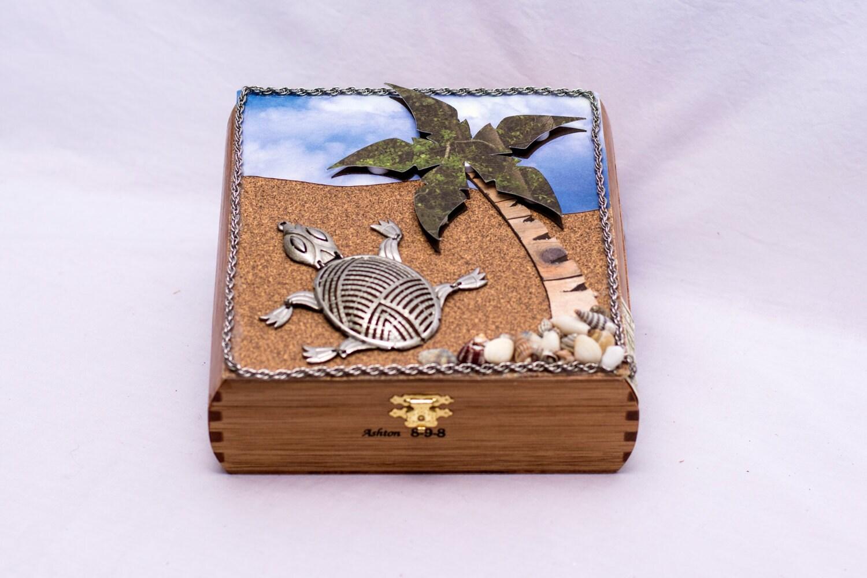 turtle jewelry turtle gift memory box wood box jewelry