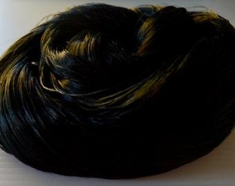 IN STOCK Midnight Black Saran Doll Hair for OOAK Custom Monster High My Little Pony