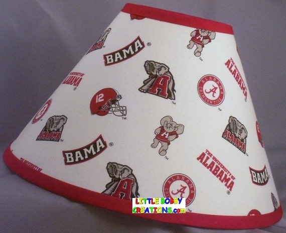 Ncaa University Of Alabama Fabric Lamp Shade 10 Sizes To
