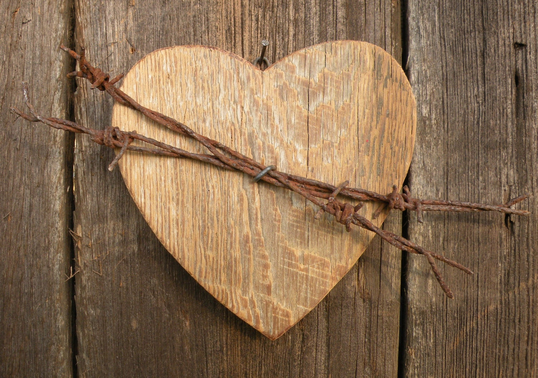 Decorative Wall Hanging Hearts : Wooden heart wall decor