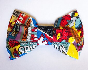 DC Marvel Super Heroes Bow Ties - 1950s Inspired - Adult Clip On Bow Tie