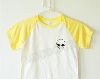 Alien shirt funny shirt cool shirt Alien tee shirt baseball tee shirt kids baseball shirt short sleeve kids shirt toddler shirt youth shirt