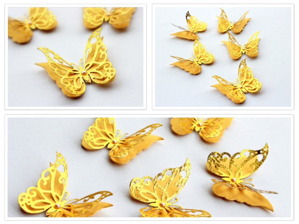 Fancy Butterfly Wall Decor 3d Component - The Wall Art Decorations ...