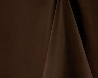 Square Mocha Brown Tablecloths - Available in 3 sizes