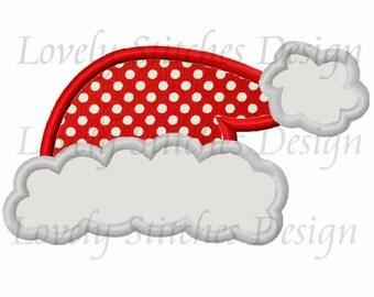Christmas Santa hat 01 Applique Machine Embroidery Design NO:0298