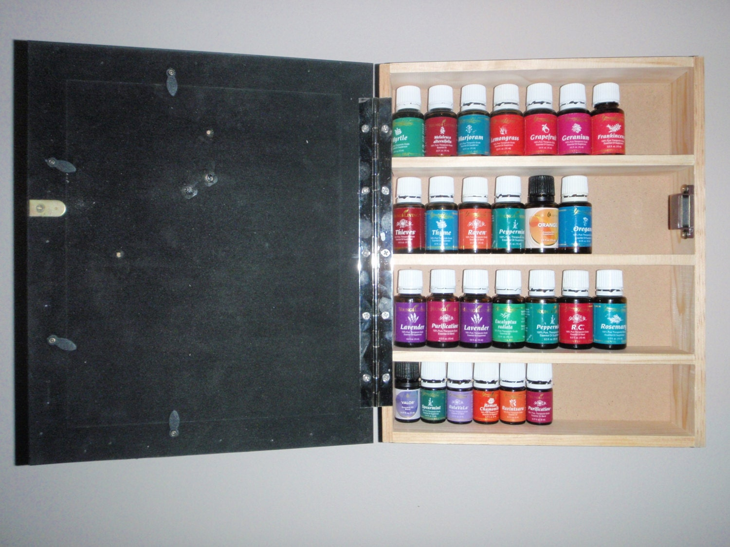 Superb img of essential oil cabinet wood shelf rack storage wall by ByStichbtch with #A62530 color and 1500x1125 pixels