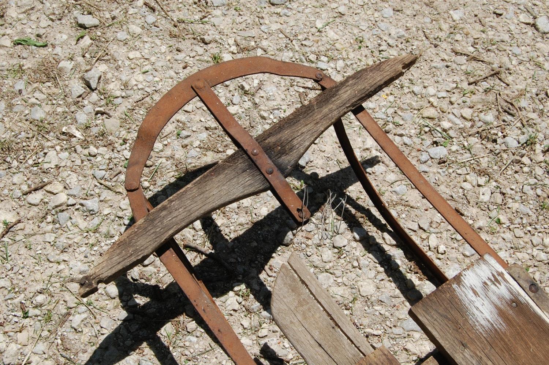 Vintage child 39 s sled antique wood sled for Vintage sleds