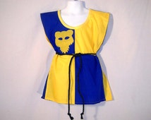 Sz 5 Boy's Medieval Knight Parti-color Cotton Tunic Shirt SCA LARP