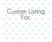 Custom Listing for Sbarba5