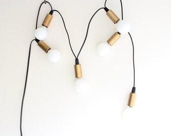 Brass Cup Candelabra String Lights