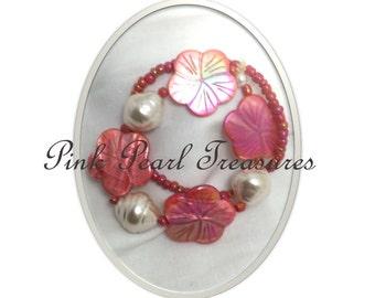 Seaside Coral strech bracelet