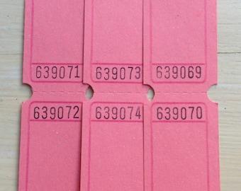 Blank Raffle Tickets - Pink