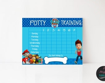 Paw Patrol Potty Training Chart, Pr int your own chart ...