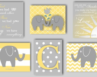 Baby Boy Nursery Art Elephant Nursery Art My Sunshine Nursery Art First We Had Each Other Elephant Decor Elephant Art Choose Colors EH5864