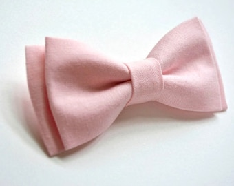 Light  pink Bow Tie, Kids Bow Tie, Kids bow tie clip on, Pink weddings, bow tie with strap for kids, pink bow tie
