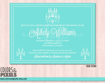 Tiffany Bridal Shower Invitation, Wedding Invitation, Bachelorette Invitation, Bachelorette Invitation, Printable Bridal Shower Invite