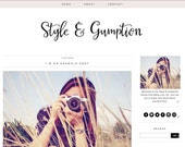 Style and Gumption Blogger Theme - Blogger Template - Premade Blogger - Black Pink Fashion Blogger Lifestyle Blogger