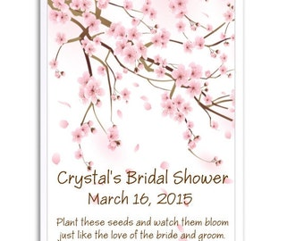 24 Cherry Blossom Seed Favors