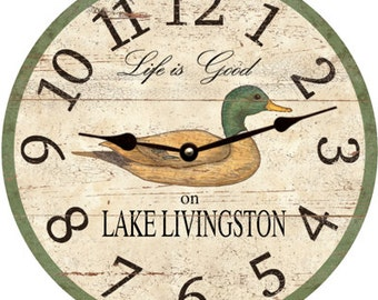 Duck Clock- Personalized Duck Clock