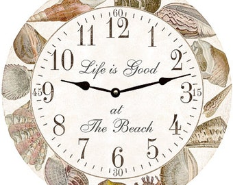 Seashell Clock- Personalized Sea Shell Clock