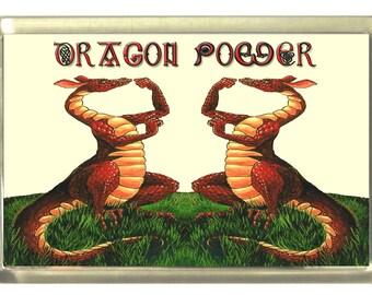 Welsh Dragon Fridge Magnet 7cm by 4.5cm Dragon Power