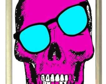 Skewed Skull Fridge Magnet 7cm by 4.5cm
