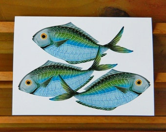 Butterfish blank greeting card