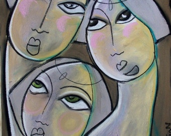 Radio city dolls- Limited Edition Print - Art Deco Inspired by artist Samantha Thompson