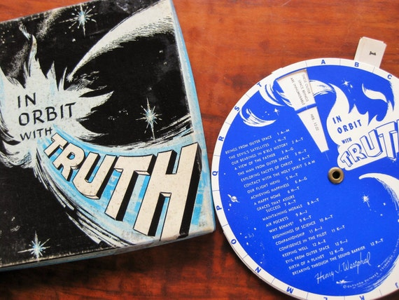 """1960s """"In Orbit with Truth"""" a space age bible reference tool! Bible study. Henry Westphal."""