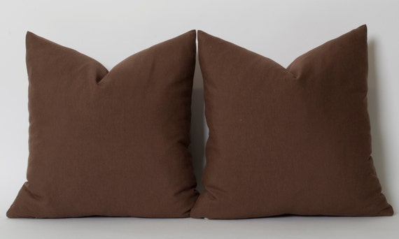 Solid Brown Linen Decorative Pillow Cover ALL SIZES Home Decor