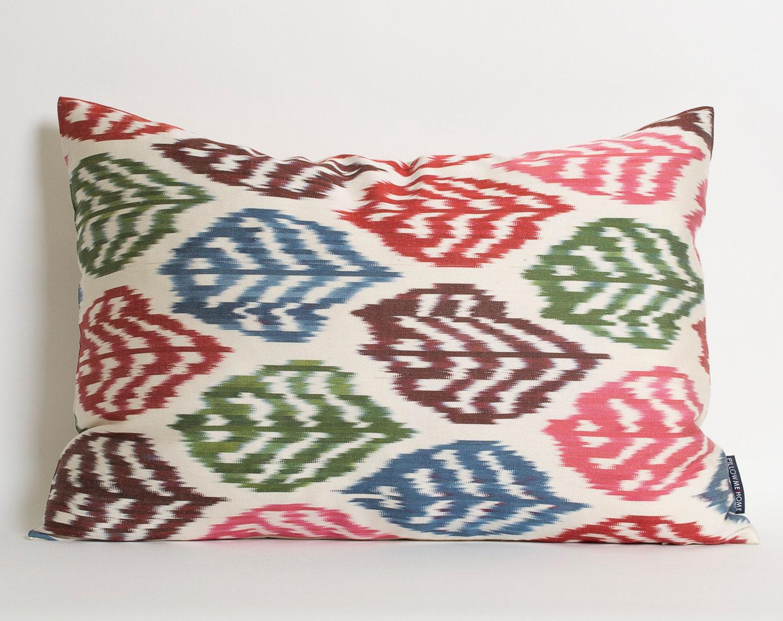 Ikat Throw Pillows Etsy : Ikat Pillow Cover Throw Pillow Ikat Decorative Throw