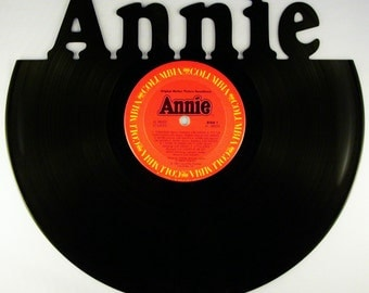 Recycled Vinyl Record ANNIE SOUNDTRACK Wall Art
